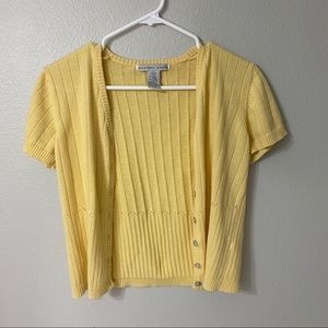Vintage Tops - Pastel yellow cardigan